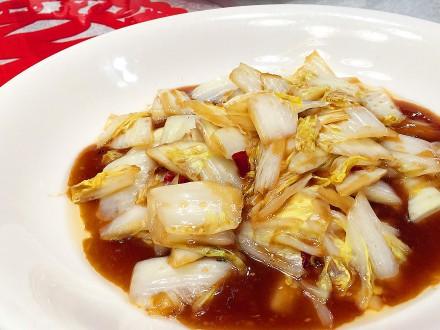 B14白菜の酢炒め