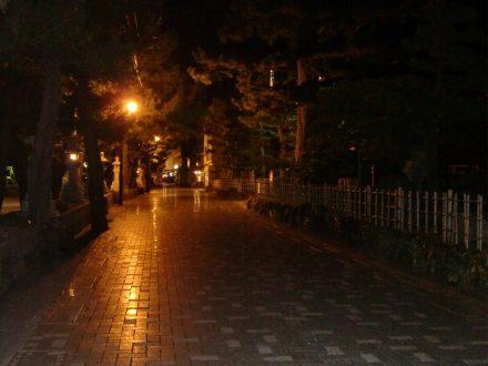 旅館街の夜